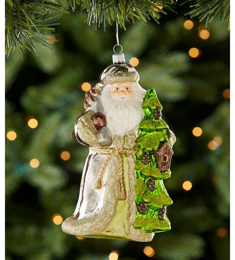 dillard s trimmings santa with tree ornament dillards