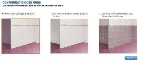 simulateur carrelage salle de bain et couleur peinture d 233 co cool
