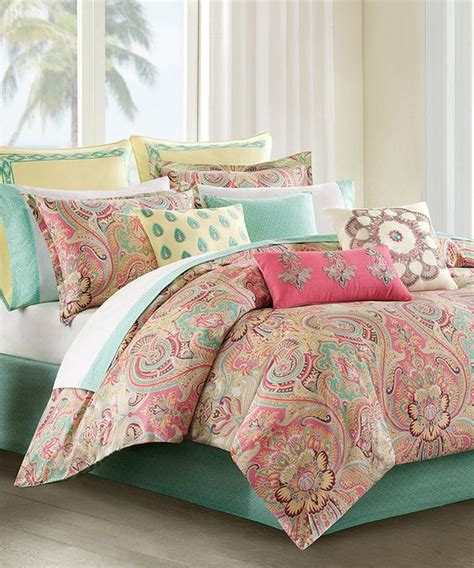 this coral mint paisley bedding set by jla home on