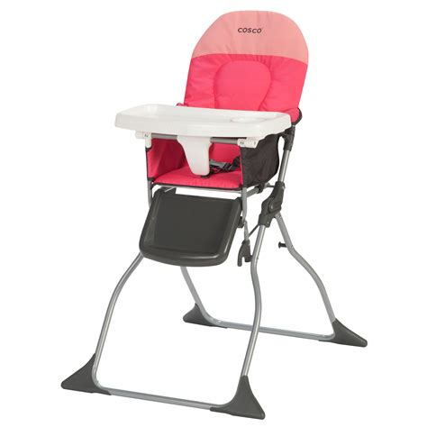 cosco simple fold high chair colorblock corel