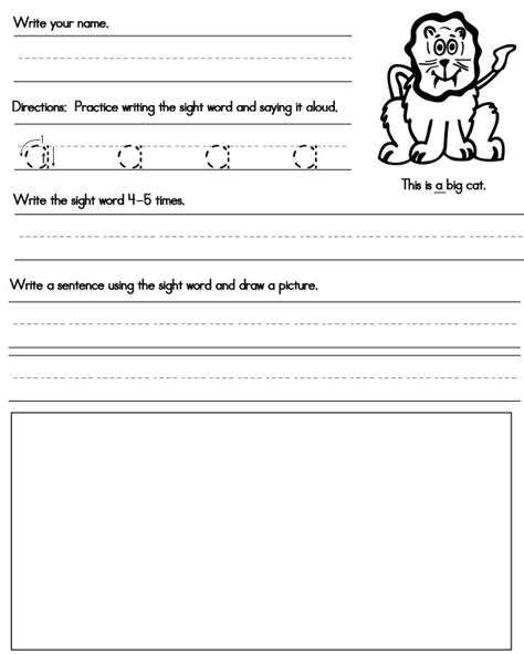Printable Sight Word Worksheets  Sight Words, Reading, Writing, Spelling & Worksheets