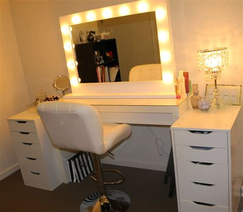 makeup table with lighted mirror ikea makeup vidalondon