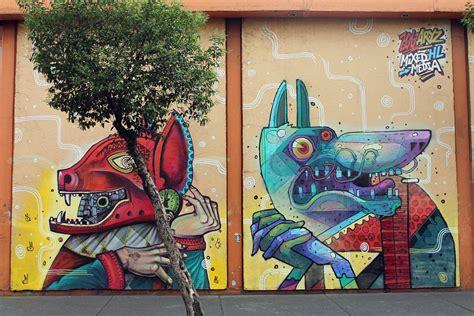 aryz x saner new mural in mexico city streetartnews streetartnews