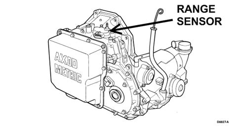 where is transmission range sensor located on 98 ford taurus se