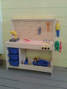 Kinderwerkbank Holz Selber Bauen : pin von bea leutgeb auf do it yourself pinterest spielzimmer hochbetten und kinderwerkbank ~ Markanthonyermac.com Haus und Dekorationen