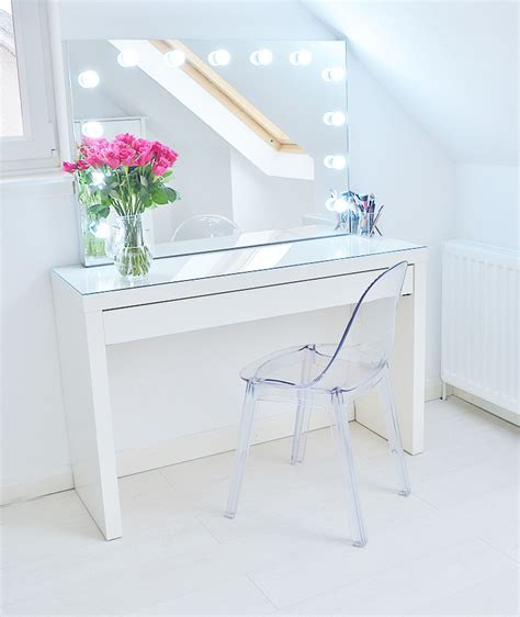 Makeup Storage Ideas  Ikea Malm Makeup Vanity With Mirror. Tall Entryway Table. Altra Chadwick Collection Corner Desk. Largest Chest Of Drawers. Discount Dining Tables. Under Shelf Pull Out Drawer. Guidecraft Art Table. Bronze Desk Lamps. Louis Xv Desk
