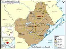 Brazoria County Map, Texas