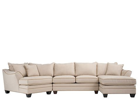 foresthill 3 pc microfiber sectional sofa light taupe raymour flanigan