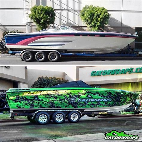 Custom Fishing Boat Graphics by Boat Wraps Boat Graphics Decals Gatorwraps
