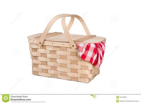panier et nappe de pique nique photographie stock image 31345652