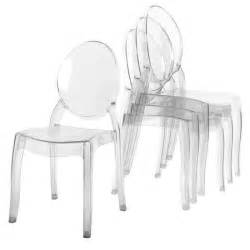 lot de 4 chaises transparent en plexi ronda achat vente chaise soldes cdiscount