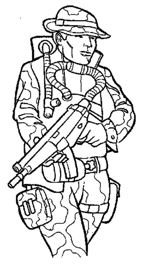 Opblaasboot Paw Patrol by Coloring Page Of A Soldier Coloring Home