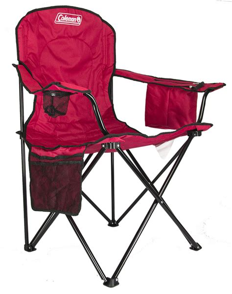 2 coleman cing outdoor oversized chairs w cooler cup holder ebay