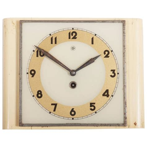 deco wall clock for sale at 1stdibs