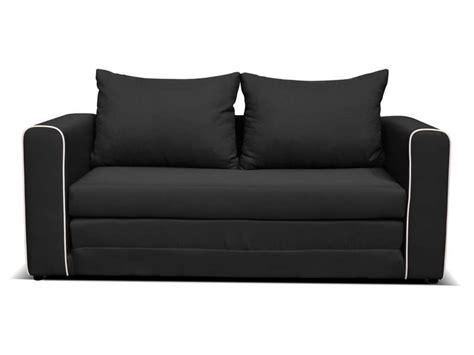 canap 233 fixe convertible 2 places en tissu coloris noir vente de canap 233 droit conforama