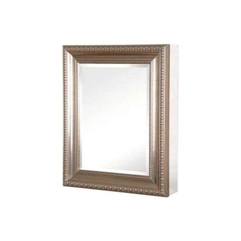 pegasus 24 in x 30 in mirrored recessed or surface mount medicine cabinet with deco framed