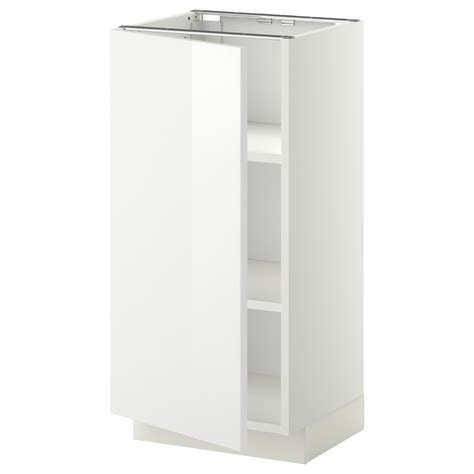 metod base cabinet with shelves white ringhult white 40x37
