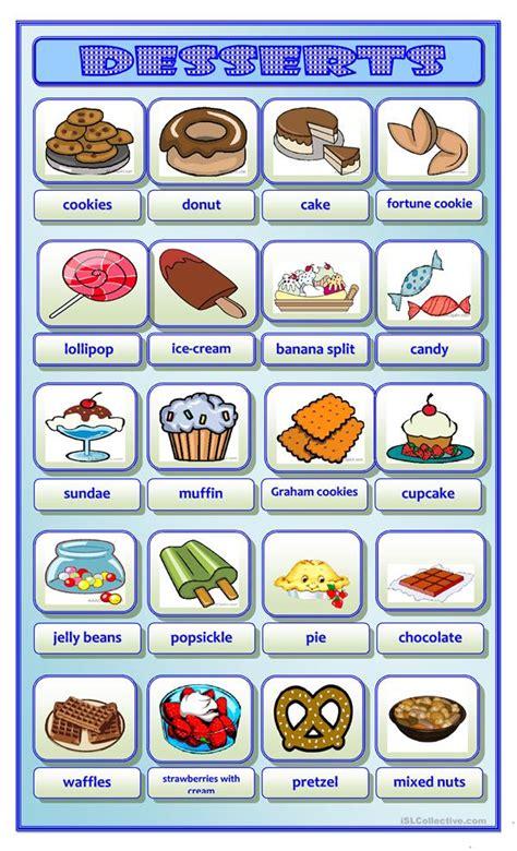 11 Free Esl Desserts Worksheets
