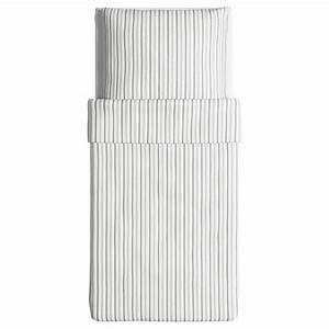 Bettwäsche Grau Weiß Gestreift : ikea bettw sche garnitur h st ga grau wei gestreift drei gr en ~ Markanthonyermac.com Haus und Dekorationen