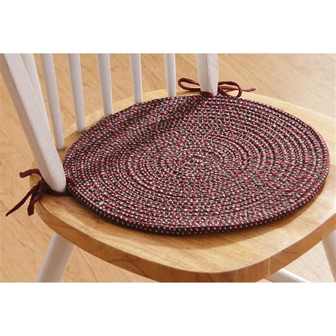 4 pk of braided chair pads 179864 kitchen dining at sportsman s guide