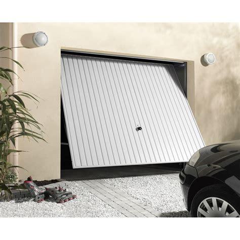 porte de garage basculante manuelle d 233 bordante h 200 x l 240 cm leroy merlin
