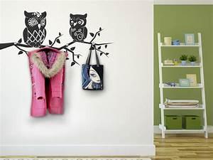 Deko Ideen Selbermachen Flur : wandtattoo garderobe eulen mit wandhaken ~ Markanthonyermac.com Haus und Dekorationen