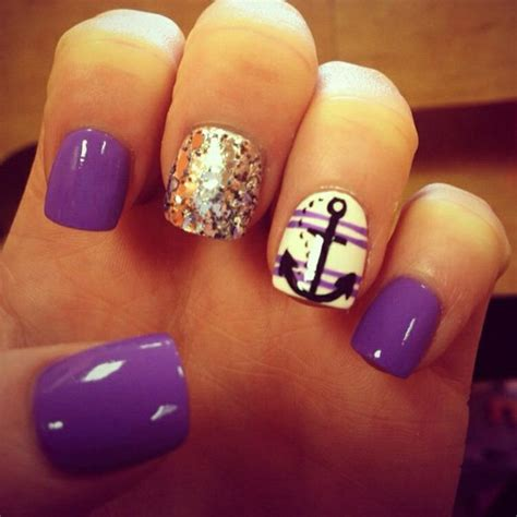Boat Anchor Nail Art by 55 Exclusive Anchor Nails Design And Ideas Golfian