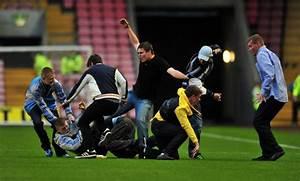 'Shameful' Newcastle Fans Fight On Pitch During Darlington ...
