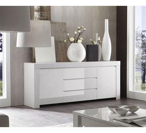 meuble de rangement 2 portes 3 tiroirs moderne laqu 233 blanc quot trendy quot 1752