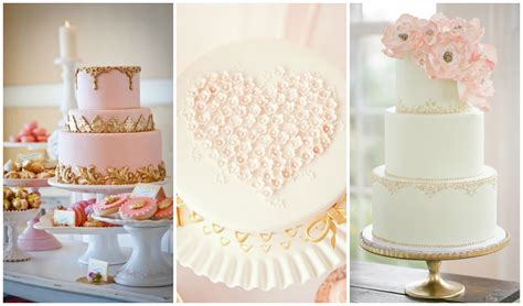pink and gold cake blush pink and gold wedding inspiration one charming day