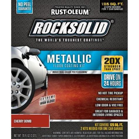rust oleum rocksolid 70 oz metallic cherry bomb garage