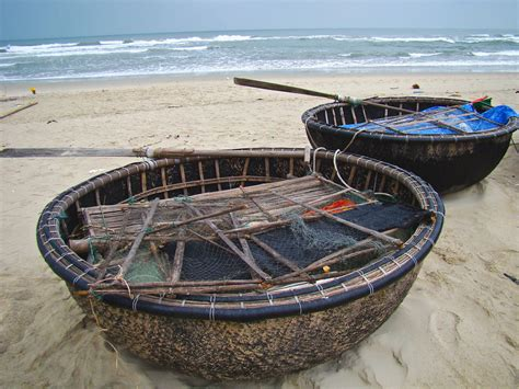 Round Your Boat by Round Basket Boats China Beach Vietnam You Should Be A
