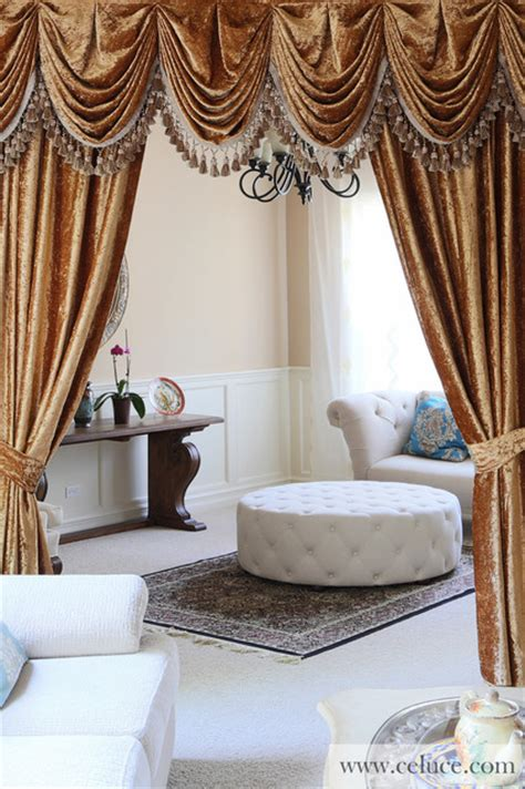 swag curtains for living room gold velvet pleated austrian style swag valance curtains