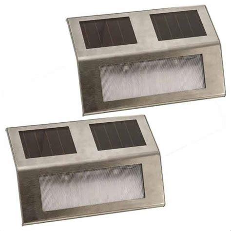 lumi 232 re de patio solaire paquet de 2 acier inoxydable rona