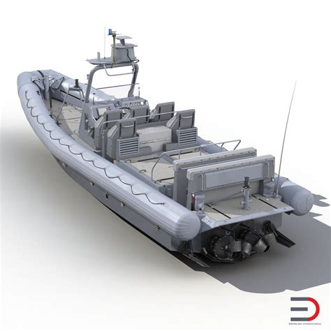Inflatable Boats Hull by 3d Model Of Naval Special Warfare Rigid Hull Inflatable