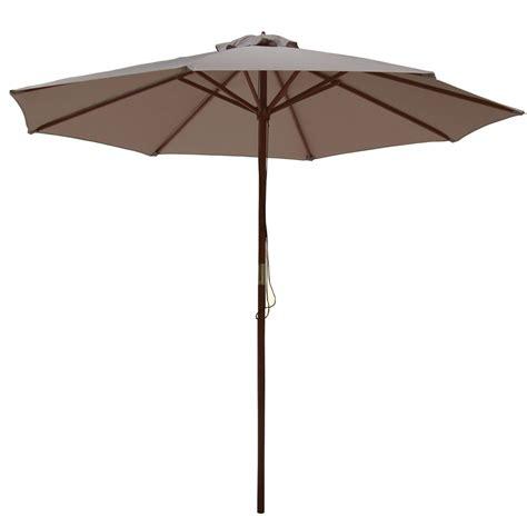 palm springs 2 7m wooden parasol umbrella garden sun shade furniture ebay