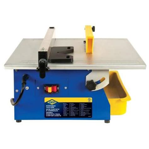 qep master cut 3 5 hp tile saw with 7 in blade for ceramic tile 60089q the home depot