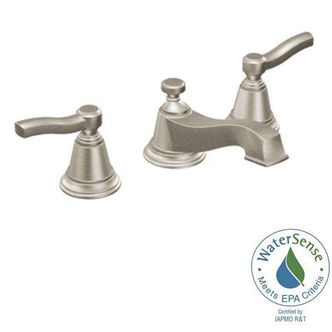 moen rothbury 8 in widespread 2 handle low arc bathroom