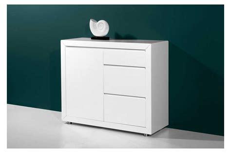 meuble de rangement 1 porte et 3 tiroirs laqu 233 blanc trendymobilier