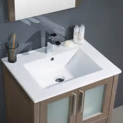 fresca torino 24 quot gray oak modern bathroom vanity w