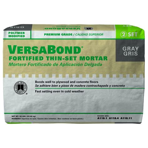 versabond thinset for porcelain tile custom building products versabond gray 50 lb fortified