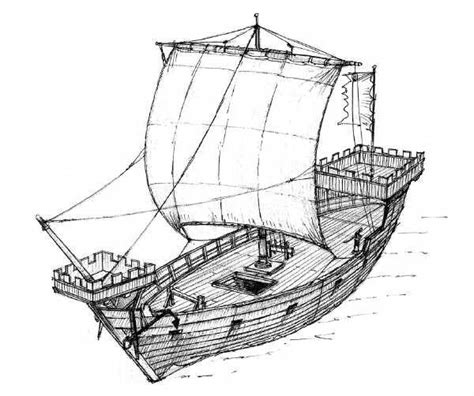 Medieval Boat Drawing by How Were Medieval Sailing Ships Built Quora