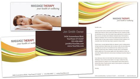 Letterhead Template For Massage Chiropractor Physical