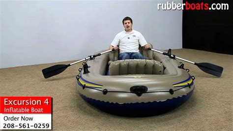 Intex Inflatable Boat Review by Intex Excursion 4 Inflatable Boat Video Review By Rubber