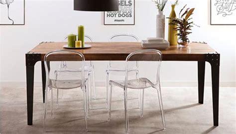table 224 manger vintage industriel bois et acier pas cher