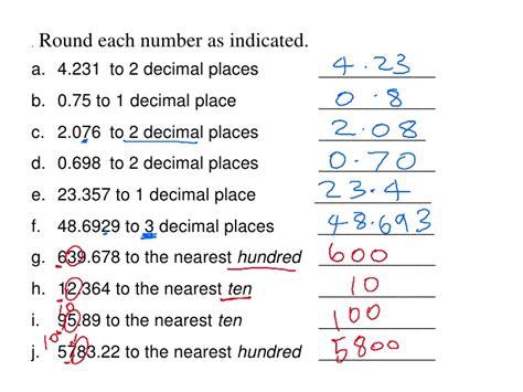 Rounding Decimal Numbers