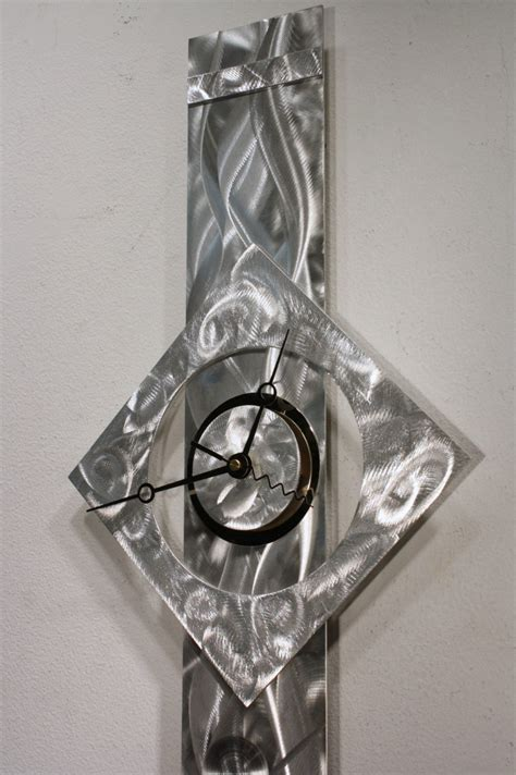 metal wall sculpture clock modern abstract painting decor kovacs k85 kovacs