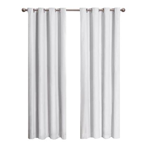 Eclipse Blackout Curtains White eclipse cassidy blackout white polyester grommet curtain