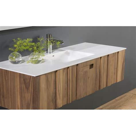 vente meuble de salle de bain en bois massif avec plan vasque solid surface