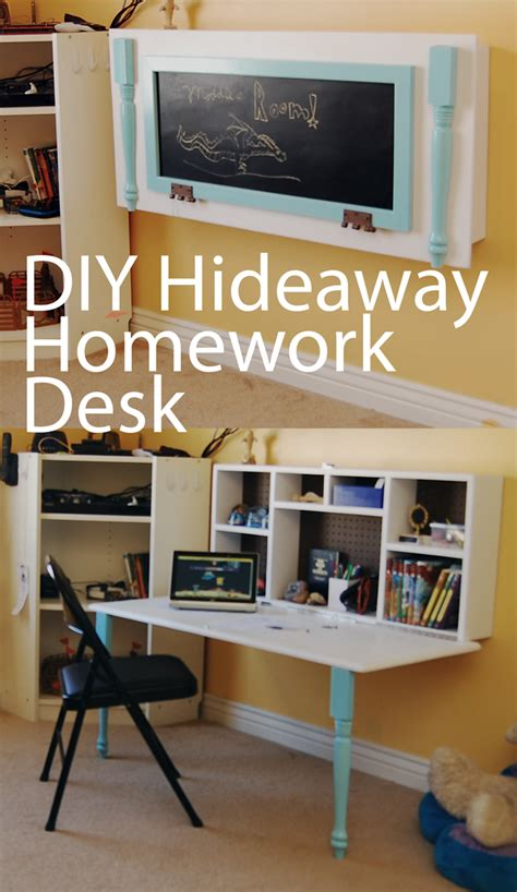 Diy Hideaway Homework Wall Desk  Boys Rooms  Pinterest. Wedding Shower Table Decorations. Wall Unit Desk Combo. Clamp Desk Lamp Swing Arm. Small Round Accent Tables. Leaning Desk Shelf. Counter Height Round Dining Table. Computer Desk Sale. Desk Sign